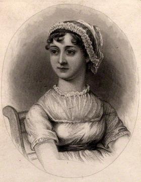 Jane Austen after Cassandra Austen stipple engraving, published 1870 NPG D1007 © National Portrait Gallery, London