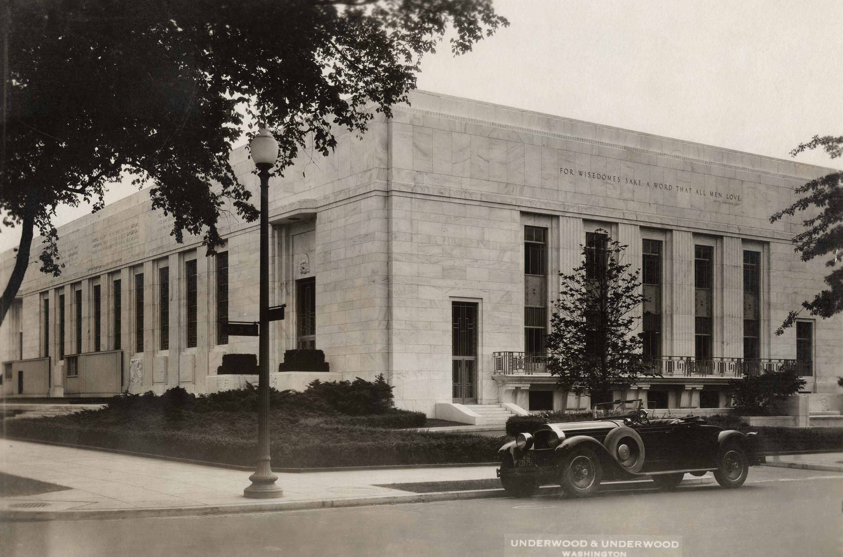 shall we take the ferry to nantucket to the folger north and west facades of the folger shakespeare library the year before it opened folger