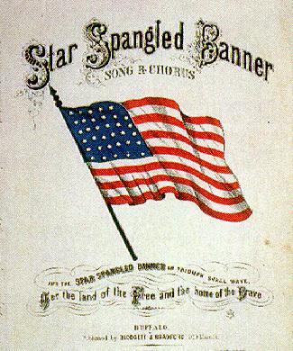 Star Spangled song sheet