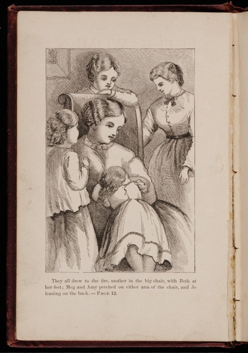 Illustration by May Alcott for Little Women (Boston: Roberts Brothers, 1868). Courtesy of the Yale Collection of American Literature, Beinecke Rare Book and Manuscript Library, Yale University