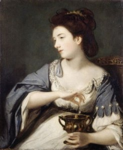 "Current title: ""Catherine Fisher (Kitty) (d. 1767)"" or ""Cleopatra Dissolving the Pearl."" 