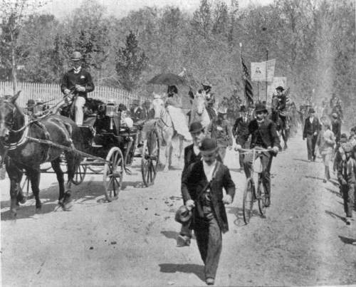 The Coxeyites set out from the Brightwood Riding Park in Washington on May 1, 1894.