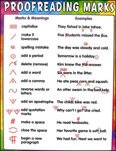 prroof reading marks