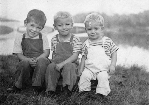 Three brothers (from left to right): Richard (the author's father), Frankie, and Larry Green, circa 1953, in Princeton, New Jersey. Frankie died in 1956, at age 6, of encephalitis caused by measles. Photo by Margaret Green, used with permission.