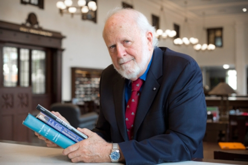 After decades of building relationships and literary sleuthing, English professor emeritus Ron Schuchard is bringing the complete prose of acclaimed modernist T.S. Eliot to the world. Photo courtesy of Emory Photo/Video.